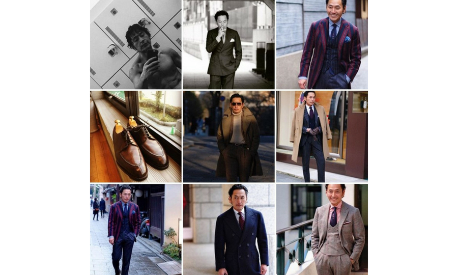 A man's Instagram profile featuring him wearing suits