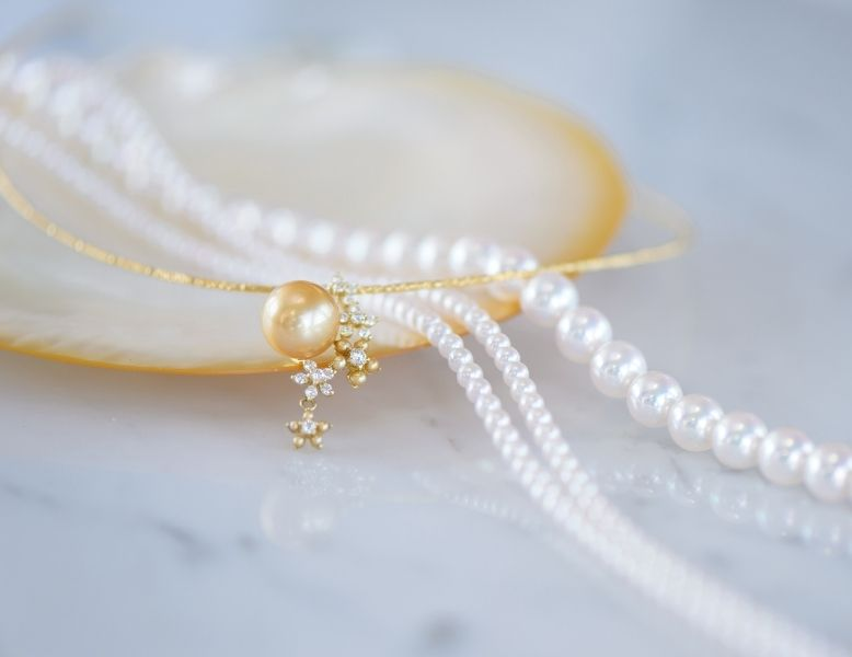 Pearl Falco necklace featuring Akoya pearls