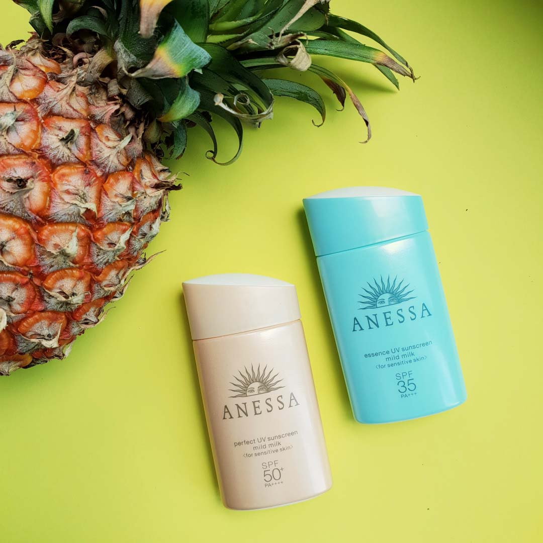 Anessa's Mild Milk Range has anti-pollution properties and is safe for reefs