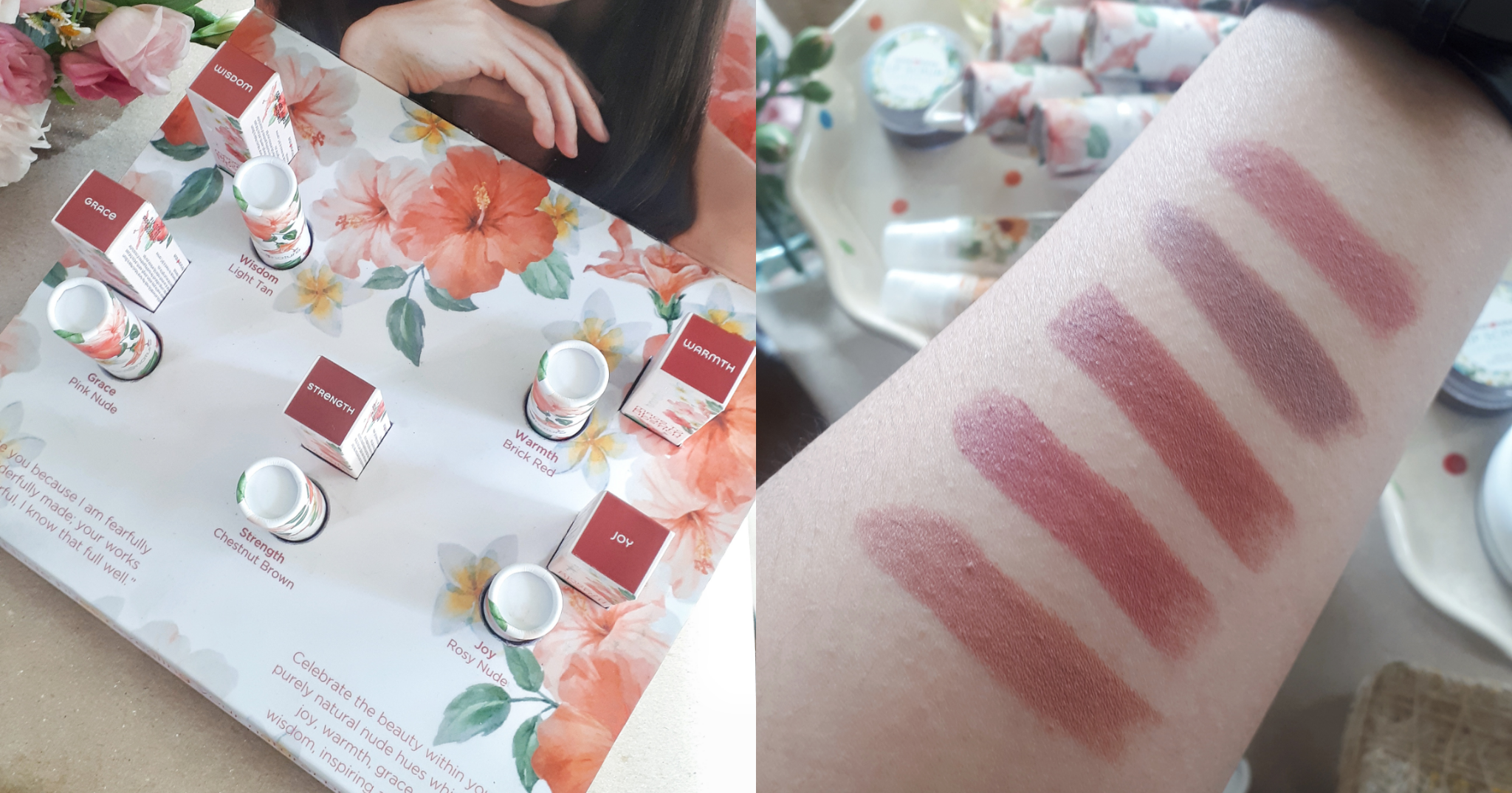 Human Nature Made To Bloom Swatches