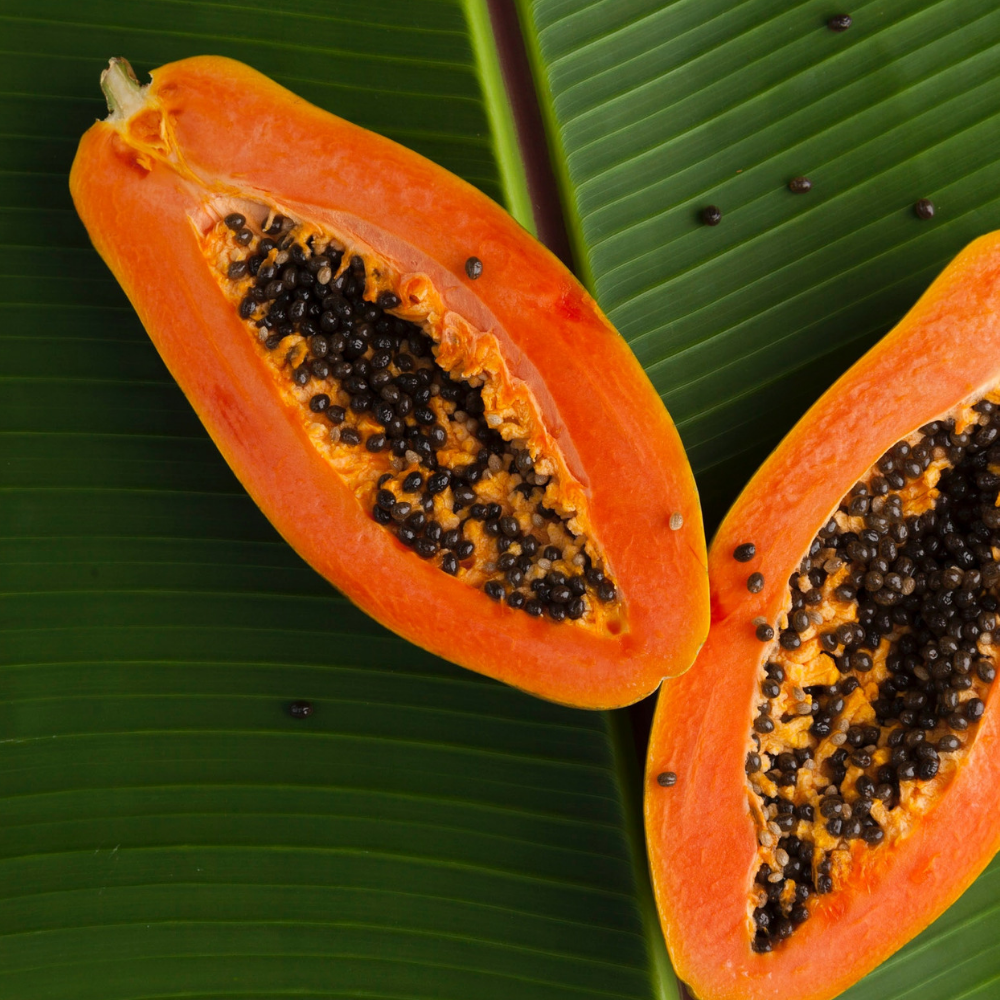 papaya as symbol for intimate area