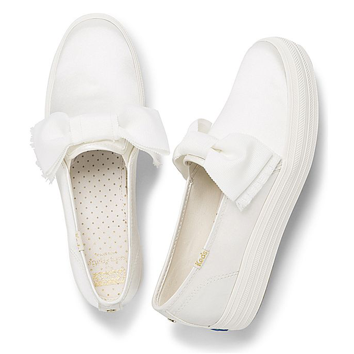 Keds Kate Spade New York Triple Decker Sneakers Bow White Shoes