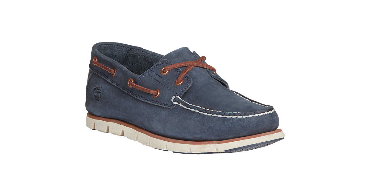 Timberland Tidelands Boat Shoes in Navy Nubuck