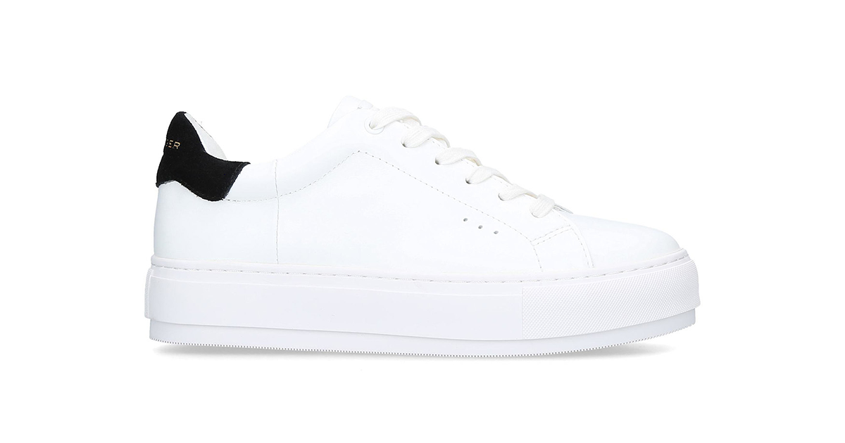 Kurt Geiger Laney White Leather Chunky Trainers