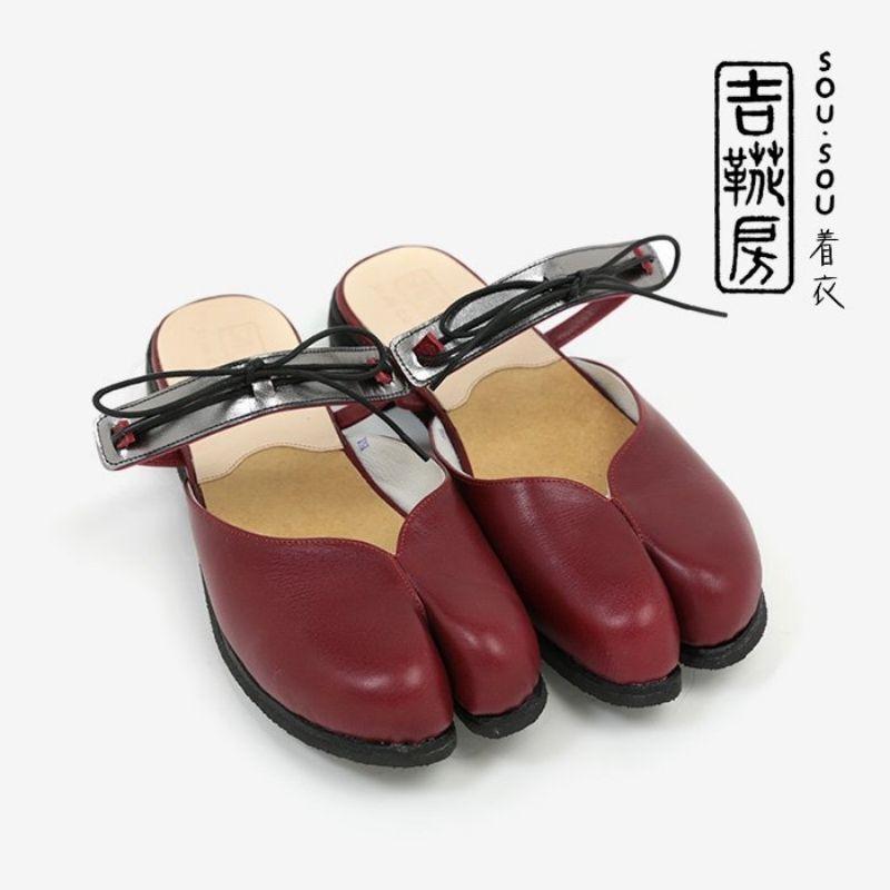 SOU・SOU x Kikkabo Leather Tabi