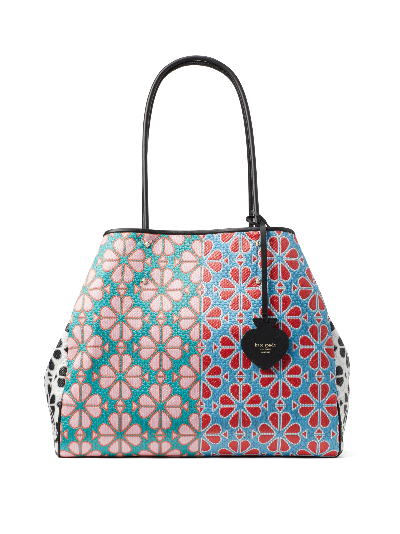 Kate Spade New York Everything Spade Flower Large Tote in Green Multi