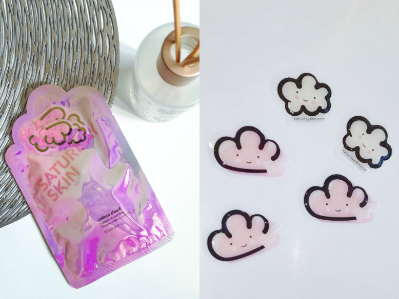 A packaging of a sheet mask and 3D cloud stickers