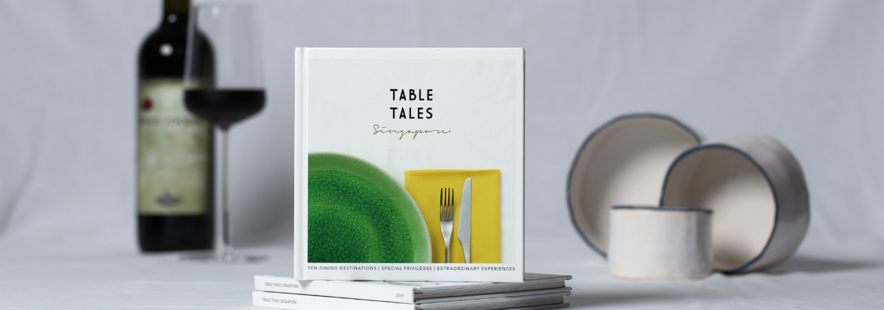 Table Tales is a novel dining cum book concept created by avid foodies Karin van Vliet and Peter Ulrich that asks you to savour each dining moment.
