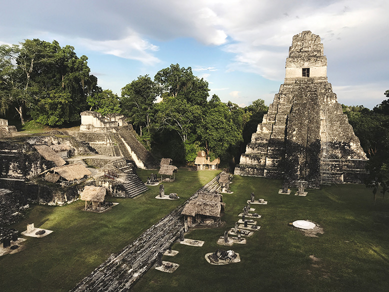 Mayan ruins in Tikal, a World Heritage Site
