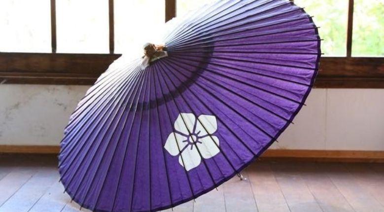 Jano-me gasa (Japanese umbrella), Samurai Akechi Mitsuhide's bellflower-shaped family crest