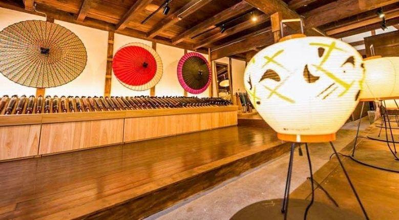 Rows of beautiful wagasa are on display inside Wagasa CASA.