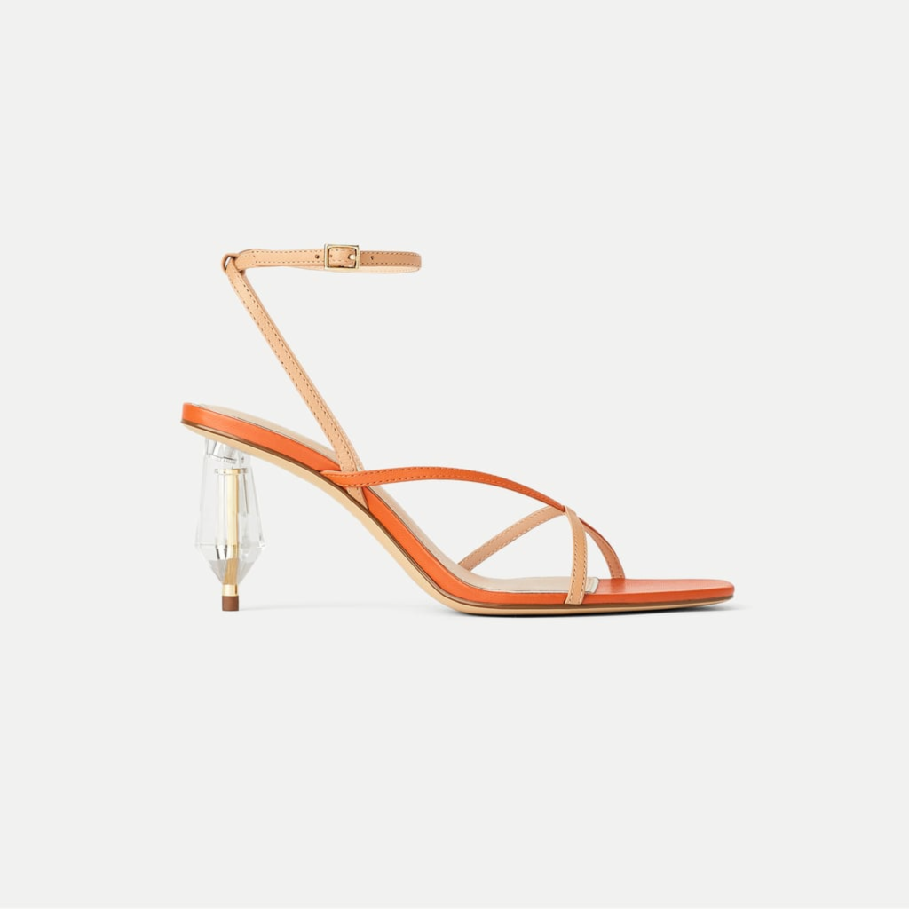 zara colour block sandals