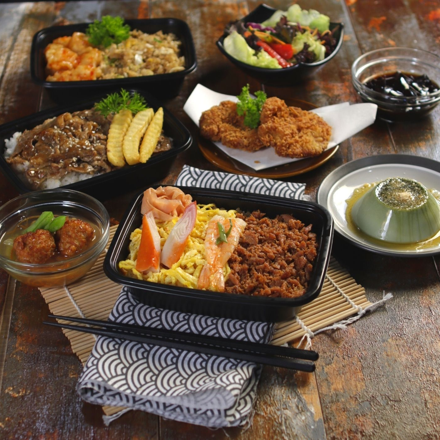 Washoku SATO Siap Antar Hidangan Jepang Untuk Makan Bersama Keluarga Di Rumah